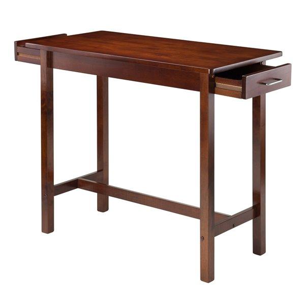 Ilot de cuisine avec base en bois brun (19.69 po x 39.37 po x 33.27 po)