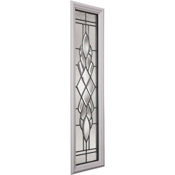 Fenêtre latérale Grace avec baguettes nickel, faible émissivité + argon, 8 po x 36 po x 1 po