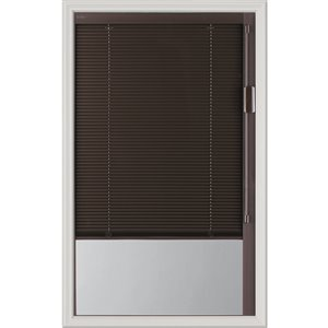 Blink Enclosed  Blinds - Premium Colour Espresso Blinds Low-E Door Glass 20-in x 36-in x 1-in