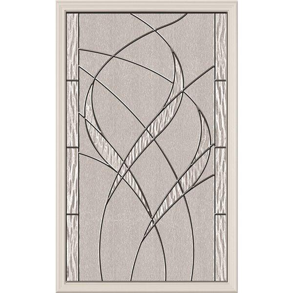 Fenêtre de porte Waterside avec baguette chrome noir, faible émissivité + argon, 22 po x 36 po x 1 po