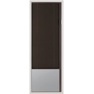 Blink Enclosed  Blinds - Premium Colour Espresso Blinds Low-E Door Glass 22-in x 64-in x 1-in