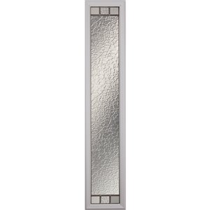 Jardin Low-E Argon Glass with Satin Nickel Caming 8-in x 64-in x 1-in Sidelight