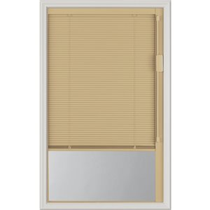 Blink Enclosed  Blinds - Premium Colour Sand Blinds Low-E Door Glass 20-in x 36-in x 1-in