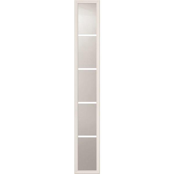 Fenêtre latérale à 5carreaux avec carrelage intégré, faible émissivité, 8 po x 64 po x 1 po