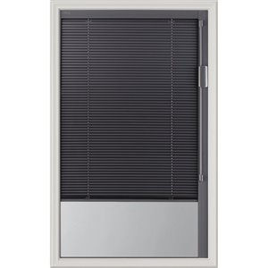 Blink Enclosed  Premium Colour Slate Gray Blinds Low-E Door Glass 22-in x 36-in x 1-in