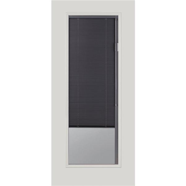 Fenêtre à stores intégrés Blink, gris ardoise, faible émissivité, 22 po x 64 po x 1 po
