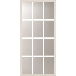 12-Lite Low-E Glass with Grill between Glass  22-in x 48-in x 1 in Door Glass