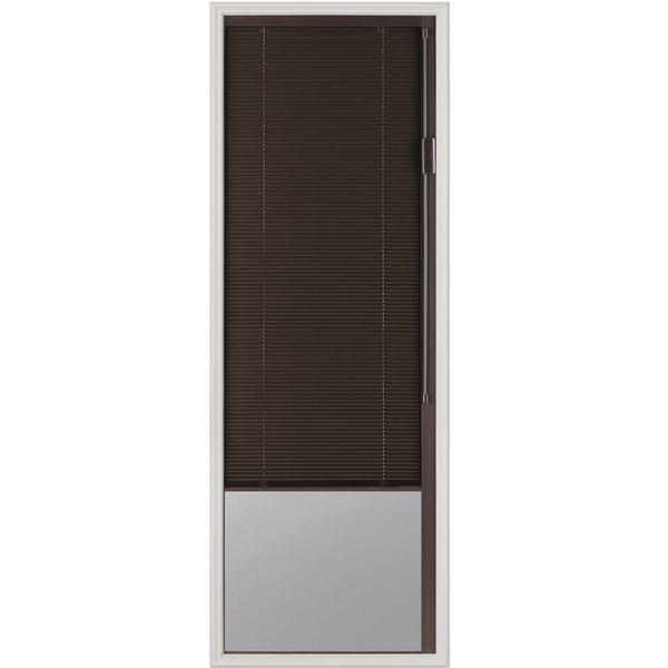 Fenêtre à stores intégrés Blink, espresso, faible émissivité, 20 po x 64 po x 1 po