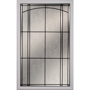 Nordic Low-E Argon Glass with Patina Caming 22-in x 36-in x 1-in Door Glass