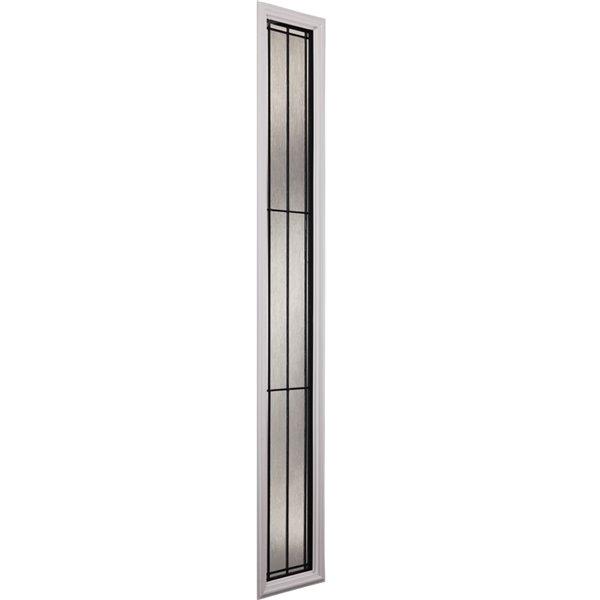 Fenêtre latérale Nordic avec baguettes patine, faible émissivité + argon, 8 po x 48 po x 1 po