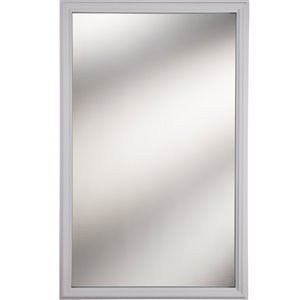 1-Lite Clear Low-E Glass 20-in x 36-in x 1-in with White Frame