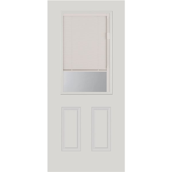1-Lite Clear Low-E Glass 22-in x 36-in x 1-in with White Frame