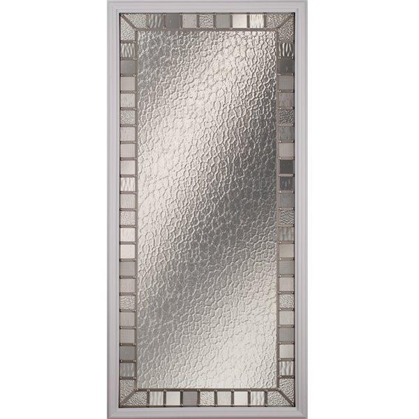 Fenêtre de porte Jardin avec baguette nickel satiné, faible émissivité + argon, 22 po x 48 po x 1 po