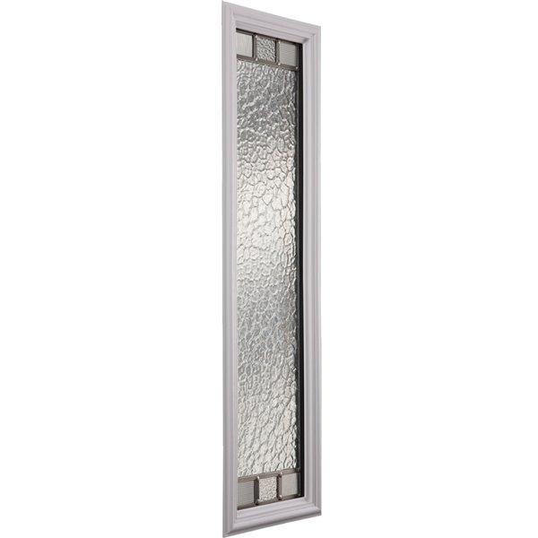 Fenêtre latérale Jardin avec baguette nickel satiné, faible émissivité + argon, 8 po x 36 po x 1 po