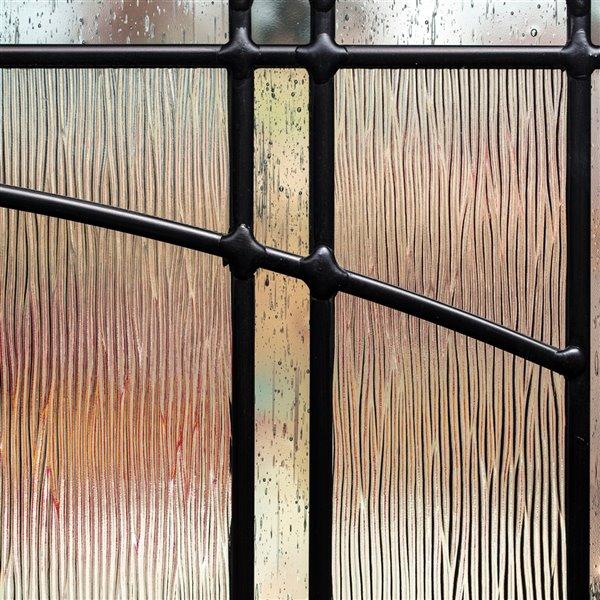 Fenêtre latérale Nordic avec baguettes patine, faible émissivité + argon, 8 po x 64 po x 1 po