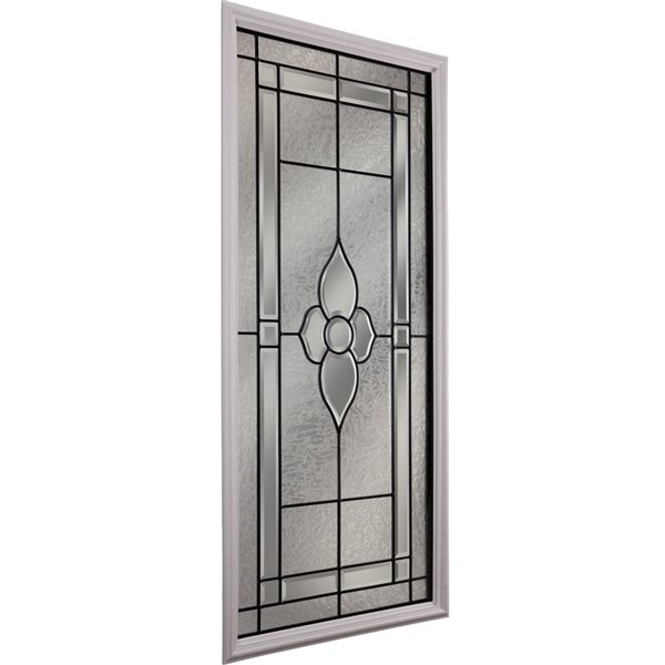 Nouveau Low-E Argon Glass with Patina Caming 22-in x 48-in x 1-in Door Glass