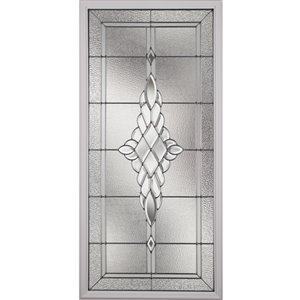 Grace Low-E Argon Glass with Nickel Caming 22-in x 48-in x 1-in Door Glass
