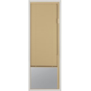 Blink Enclosed  Blinds - Premium Colour  Sand Blinds Low-E Door Glass 22-in x 64 -inx 1-in