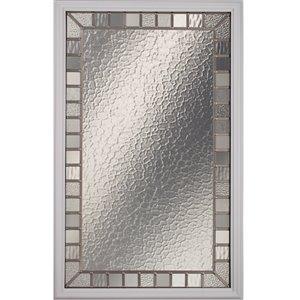 Jardin Low-E Argon Glass with Satin Nickel Caming 22-in x 36-in x 1 in Door Glass