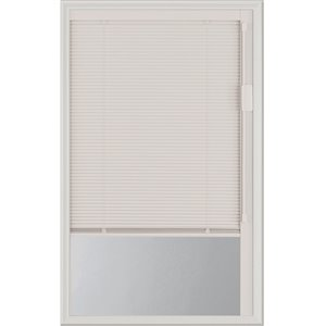 Blink Enclosed Blinds - White  Low-E Door Glass 20-in x 36-in x 1-in