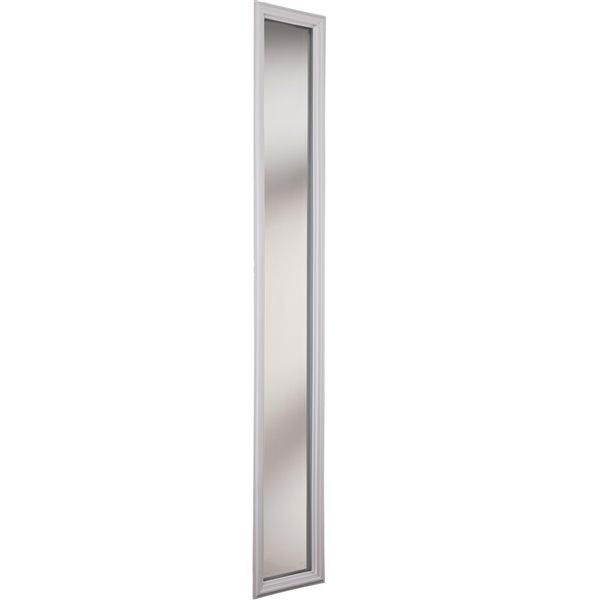 Fenêtre latérale à 1carreau, transparent, faible émissivité, 8 po x 64 po x 1 po, cadre blanc