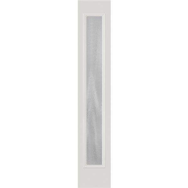 Fenêtre latérale décorative Chinchilla, faible émissivité, 8 po x 64 po x 1 po