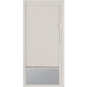 Blink Enclosed Blinds - White Blinds Low-E Door Glass 22-in x 48-in x 1-in