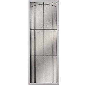 Fenêtre de porte Nordic avec baguettes patine, faible émissivité + argon, 22 po x 64 po x 1 po