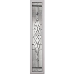 Grace Low-E Argon Glass with Nickel Caming 8-in x 48-in x 1-in Sidelight