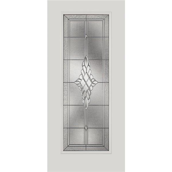 Fenêtre de porte Grace avec baguettes nickel, faible émissivité + argon, 22 po x 64 po x 1 po