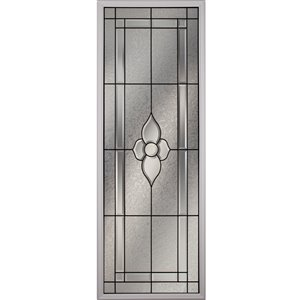 Nouveau Low-E Argon Glass with Patina Caming 22-in x 64-in x 1-in Door Glass