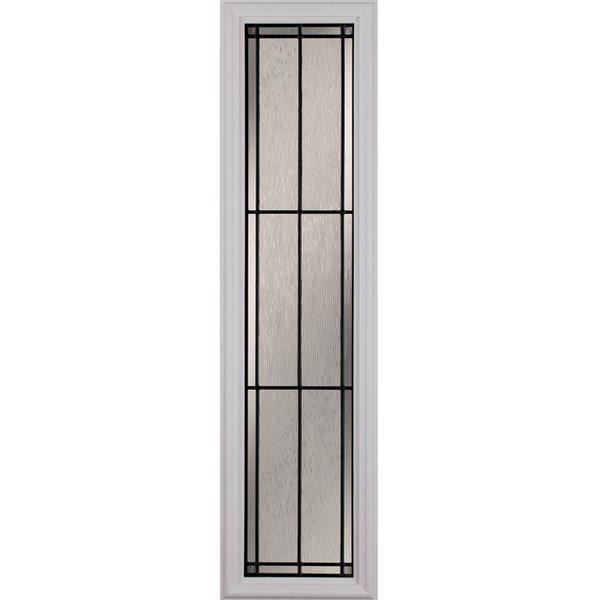 Fenêtre latérale Nordic avec baguettes patine, faible émissivité + argon, 8 po x 36 po x 1 po
