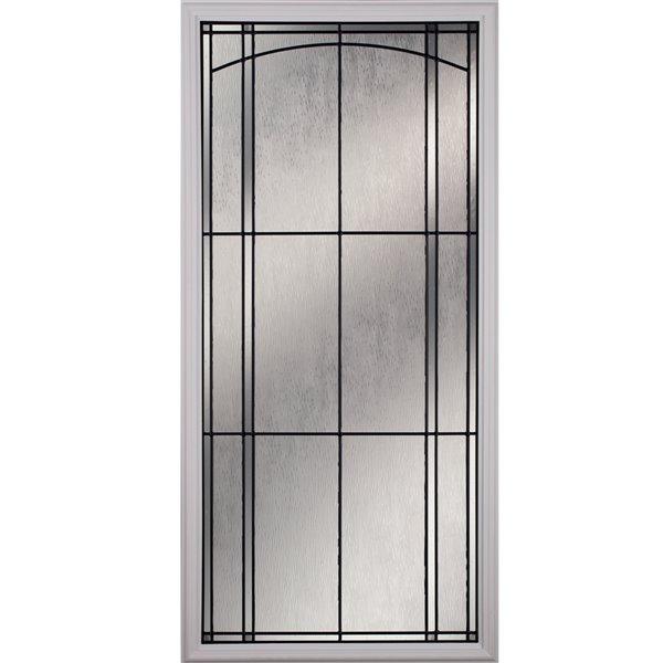 Fenêtre de porte Nordic avec baguettes patine, faible émissivité + argon, 22 po x 48 po x 1 po