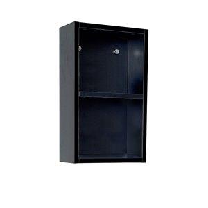 Fresca Senza 11.88-in W X 19.63-in H X 5.88-in D Black Wall-mount Linen Cabinet