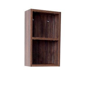Fresca Senza 11.88-in W X 19.63-in H X 5.88-in D Walnut Wall-mount Corner Linen Cabinet