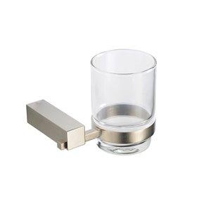 Fresca Ottimo Brushed Nickel Glass Tumbler