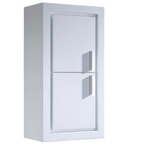 Fresca Trieste 15.75-in W X 32-in H X 9.88-in D White Wall-mount Corner Linen Cabinet