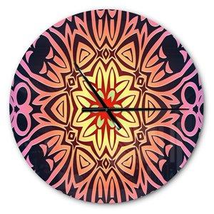 DesignArt Abstract Geometric Flower Large Analog Round Wall Standard Clock