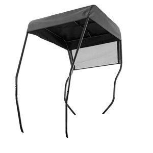 Pare-soleil à cadre d'acier pour tondeuse autoportée de MTD Genuine Parts, revêtement noir