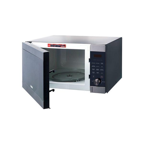 Micro-ondes de comptoir Express Wave de Galanz 1,3 pi³ 1 100 watts (acier inoxydable noir)