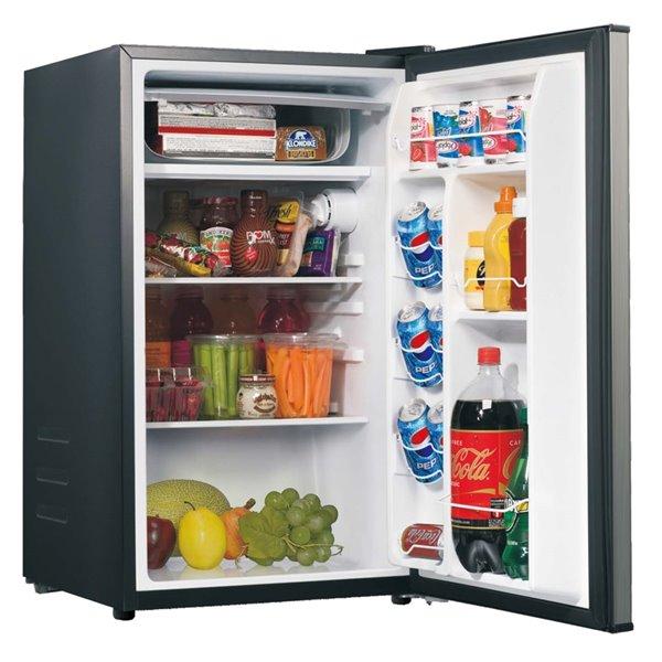 Mini réfrigérateur autoportant de 3,5 pi³ de Galanz (acier inoxydable)