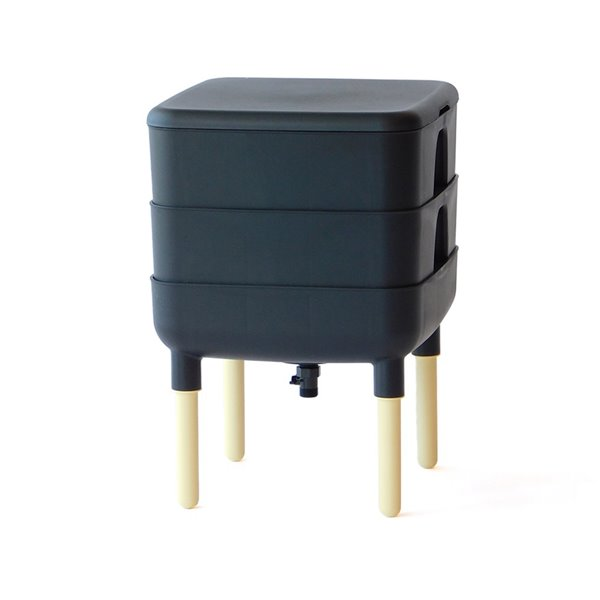 Composteur à vers de 22,7 L (6 gallon), noir, de FCMP Outdoor