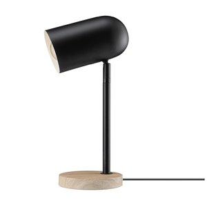 Novogratz X Globe Electric Portland 15-in Adjustable Matte Black In-line Standard Desk Lamp with Metal Shade