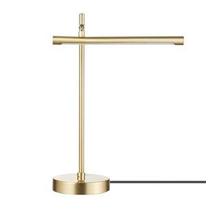 Novogratz X Globe Electric West 15-in Adjustable Matte Gold On/Off Switch Standard Desk Lamp with Metal Shade