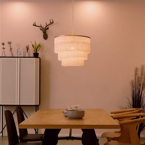 Novogratz X Globe Electric Janis Matte Gold Glam Oval Standard Medium (10-22 Inches) Pendant Light