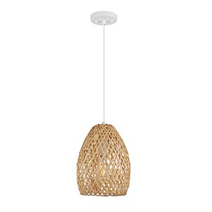 Novogratz X Globe Electric Rio Satin Brown Bohemian/global Oval Standard Medium (10-22 Inches) Pendant Light