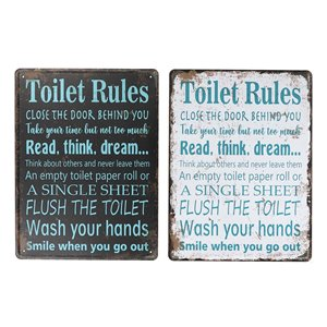 IH Casa Decor 15.75-in H x 11.8-in W Metal Signs - Set of 2