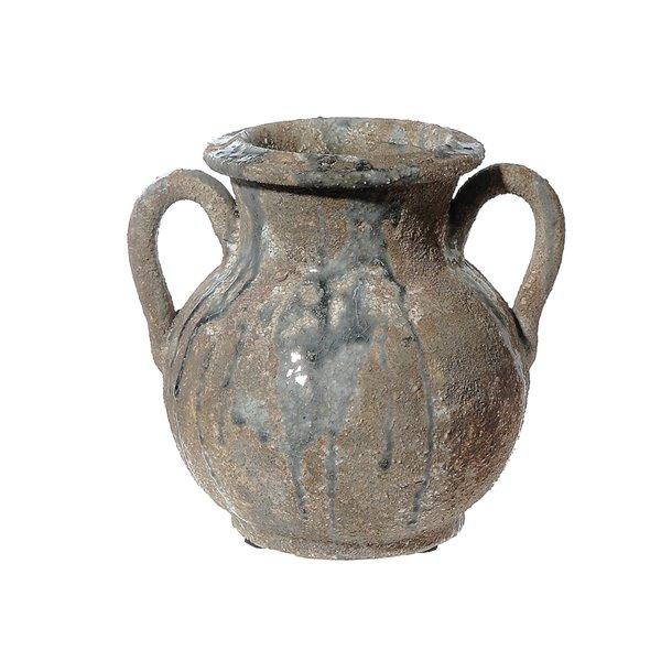 Vase rond en céramique elden avec poignées par IH Casa Decor, 3 po