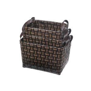 Paniers de rangement par IH CASADECOR,  en bois marron