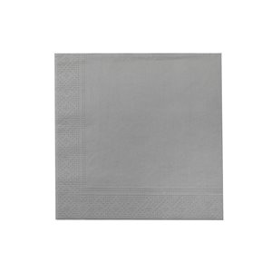 IH CASADECOR 20 Pack Luncheon 3 Ply Napkin (silver) - Set of 6